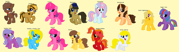 My Mane 6, Mane Favourite And Siblings by DoctressWhooves11