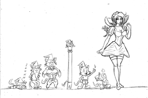 Snow Rita and the Seven Kecos by Frogwalker