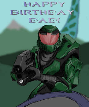 Master Chief Birthday by MarcusWilliams