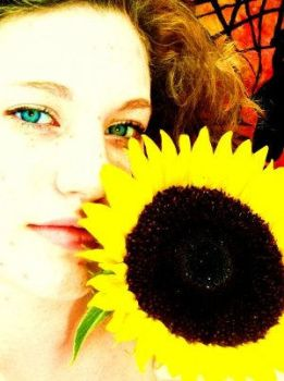 Me with a Sunflower by Dragonfirejlk