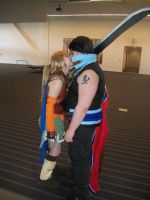 Auron x Rikku: You're too tall by Yama-shadow-wolf