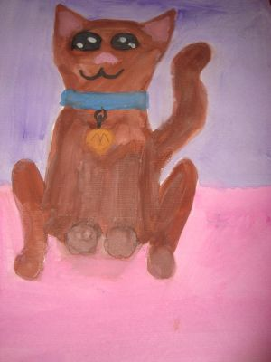 water color cat