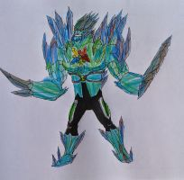 Ultimate diamondhead Ben 10000 by Kamran10000