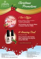Christmas Promotion Poster for A Beauty Center by hamdirizal