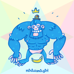 Monkey Blue by minicosmicgirl