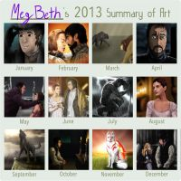 MegBeth's 2013 Art Summary by MegBeth