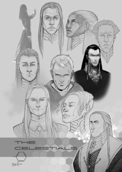 SH Concept Art: The Celestials by TheInkPages