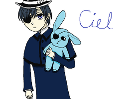 Ciel with a Bunny :3 by DemonMaster411