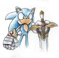 Sonic, Knight of the Wind by RhythmAx