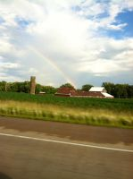 Rainbow over Barn by Chrisnorris44