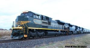 NS Erie heritage 1068 leads NS 55A grain train by EternalFlame1891