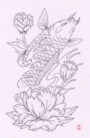 Koi Tattoo Design by Laranj4