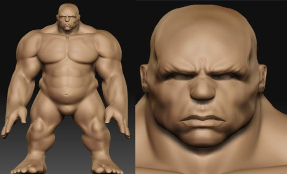 Keron's Hulk - Sculpting WIP by The-3DArtist