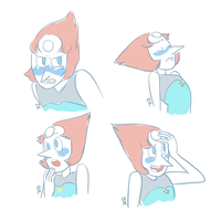 Blushing Pearl Sketches by GaoBlack