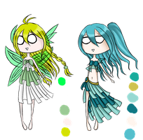 Adopt : Sylph and Undine [CLOSED] by HomicidalPudding