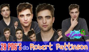 Pack de 28 png's de Robert Pattinson en HD. by CaamiKS