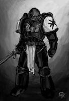 Speed Painting - 40K Space Marine Black Templar by MyNameIsByron
