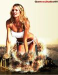 Candice Swanepoel Flattens New York by GiantessStudios101