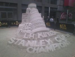 LA Kings sand sculpture thingy :P by PenaltyShot99
