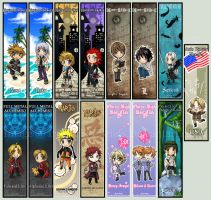 Anime Oasis Bookmarks by IrisHime