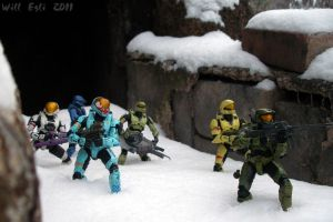 Shark Face team 1 - Halo Squad by SurfTiki