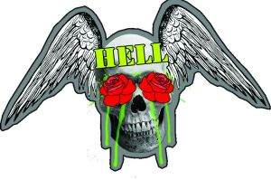 hell sticker by octodream