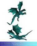 Teal Dragons PNG Exclusive by CelticStrm-Stock by CelticStrm-Stock