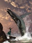 Whale Watcher Fantasy by deskridge