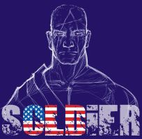 Old Soldier - Blue by rubioric