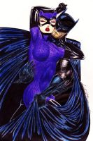 Batman and Catwoman '05 by DangerFaerie