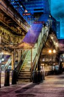 Chicago 'L' Quincy Station by spudart