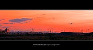 Arrival at Sunset by Val-Faustino