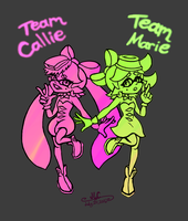 Squid Sisters - Final Splatfest Pop Version by HirokoTheHedgehog