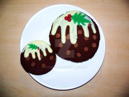 Christmas Pudding Cookies by Sydney0007