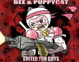 Bee and Puppycat with Guns by koude123