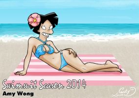 Swimsuit Season 2014: Amy Wong by Chesty-Larue-Art
