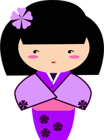 A purple Kokeshi for Spirit Day by TionneDawnstar