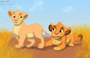 Nala and Simba by StePandy