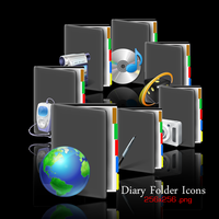 Folder Diary Icons by Gixso