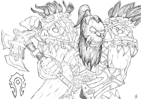 Orc - Warrior (Sketch) by Chimaera94