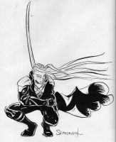 Sephiroth - old work by chillier17