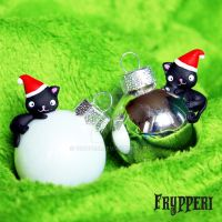 Christmas Balls with Cats by Frypperi
