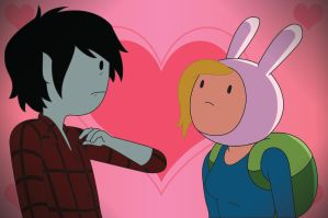 ADVENTURE TIME: Fionna and Marshall lee by DiabolicalPanda267
