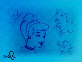 Boceto Cenicienta 1 by Thyssa