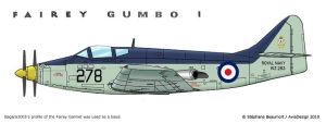 Royal Navy Fairey Gumbo I by Bispro