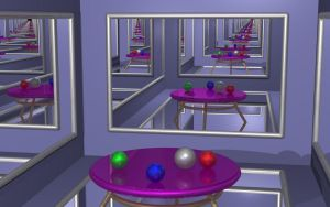 Raytraced Infinite Mirror Room by mcsoftware