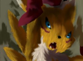 Renamon attacking realistic by DigimonReach