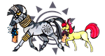 Zecora and Apple Bloom by Inya-spring