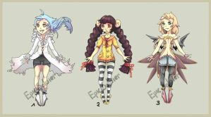 Humanoid adoptables 1 (CLOSED) by Epic-Soldier