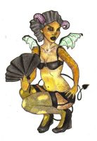 Demon Lady Pin-Up Tattoo by sypreen